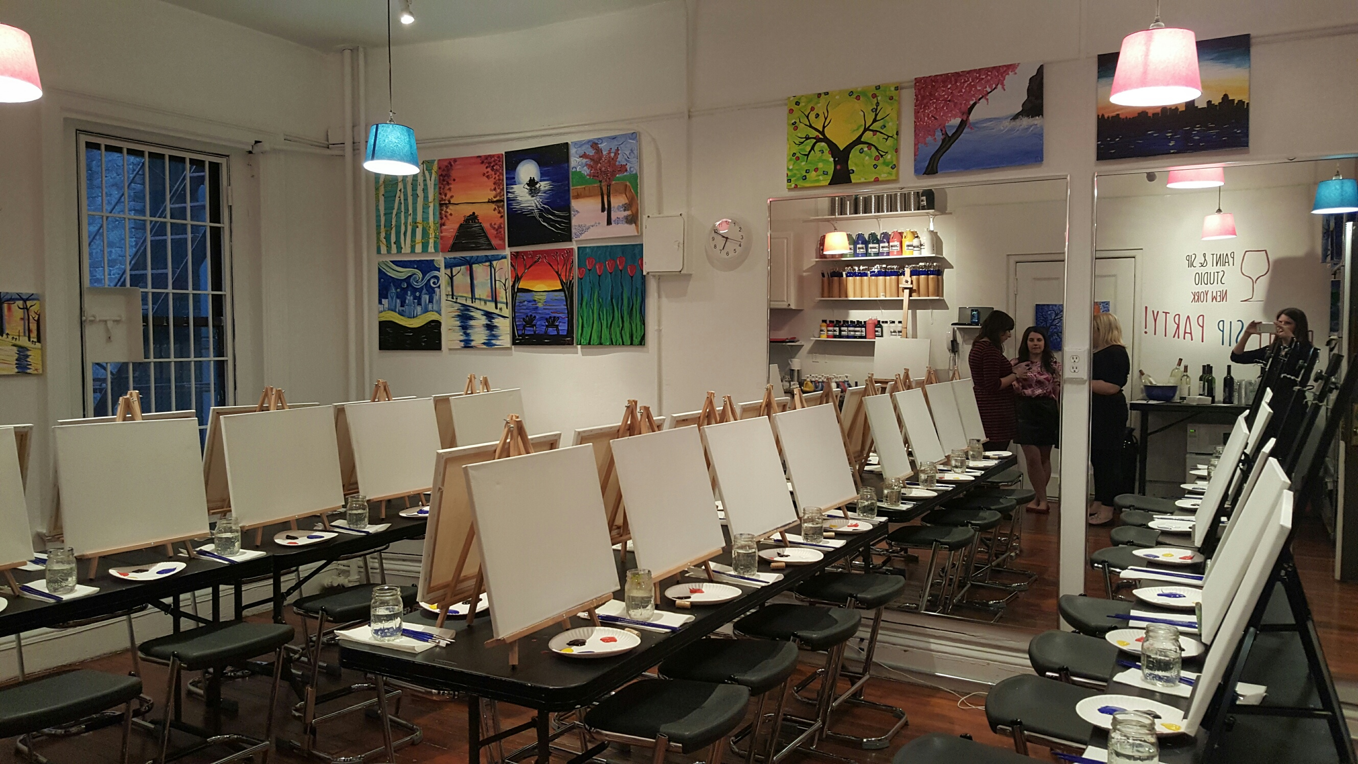 Paint sip studio opening fun nyc activities for 151 west broadway 4th floor new york ny 10013